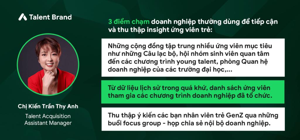 """Chị Thy Anh - Talent Acquisition Assistant Manager tại FrieslandCampina Việt Nam - Vietnam Young Talent - Webinar """"Vietnam Young Talent: Hear & Talk"""" với chủ đề """"Bàn luận chuyên sâu: Ứng viên hiện đại tìm kiếm những gì từ một chương trình tài năng trẻ?"""""""
