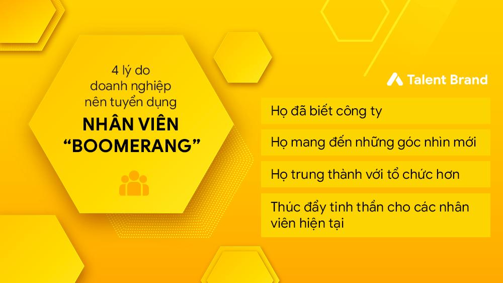 """4 lý do doanh nghiệp nên tuyển dụng nhân viên """"boomerang"""""""